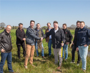 Eerste aanplant klimaatslim korte omloop bos in waterberging Brabantse Delta